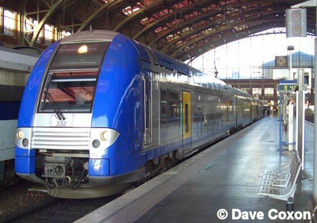 41870 sncf tee express train inox passenger 4 car set l. Black Bedroom Furniture Sets. Home Design Ideas